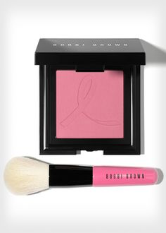 This pink @Bobbie Brown blush and brush benefit the Breast Cancer Research Foundation. Check out more awesome products that support breast cancer awareness efforts, here: http://www.womenshealthmag.com/life/breast-cancer-awareness-merchandise-2013