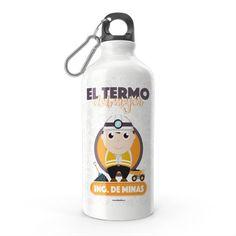 Termo - El termo del mejor ingeniero de minas, encuentra este producto en nuestra tienda online y personalízalo con un nombre. Snoopy, Fictional Characters, Engineer, Carton Box, Store, Get Well Soon, Crates, Fantasy Characters