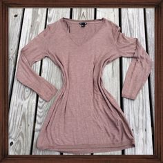 H&M Cotton Blend V Neck; NWOT This thin V-neck style cotton blend sweater is light weight and comfortable. It's perfect on its own or for layering. NWOT. H&M Sweaters V-Necks