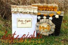 Miss Lovie: Pre-Planned Date Night Basket: A Tutorial Date Night Basket, Valentine Day Week, Date Night Gifts, Valentines Sweets, Year Of Dates, Love Dating, My Guy, Love And Marriage, Holiday Gifts