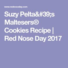 Suzy Pelta's Maltesers® Cookies Recipe | Red Nose Day 2017