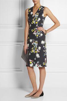 floral print dress, like the shape.