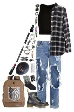 """""""~~a kitchen sink to you is not a kitchen sink to me~~"""" by we-are-the-wild-ones ❤ liked on Polyvore featuring River Island, One Teaspoon, Madewell, Dr. Martens, Halftone Bodyworks, NARS Cosmetics, Kat Von D, Tony Moly, OPI and HOT SOX"""