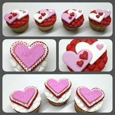 Cupcakes San Valentín ❤ #PrityCakes #pritycakes #cupcakes #fondant #cupcakesdecorados #sanvalentin #corazon #love #diadelamorylaamistad #panama #pastrypanama #panamacupcakes #pty507