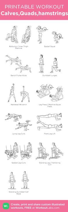 6 No-Equipment Exercises to Tone Your Body Free Weight Workout, Quads And Hamstrings, Killer Workouts, Going To The Gym, Exercise, Pdf, Sports, Calves, November