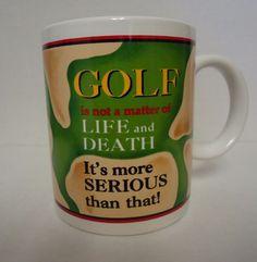 """Matrix Stanley Collection Golf Mug 12 fl oz """"Golf is not a matter of LIFE..."""