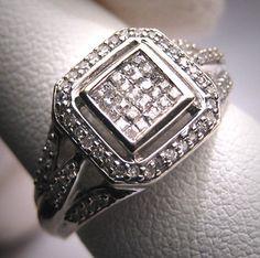 Vintage Diamond Wedding Ring Art Deco White Gold Band Engagement via Etsy