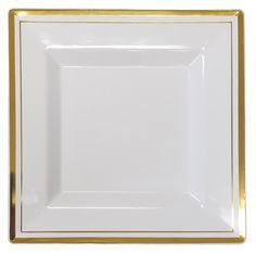 sc 1 st  Pinterest & Imperial Classic Square 10.25u201d White Plastic Plates - 50ct