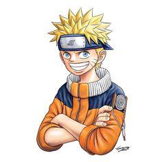 """Uzumaki Naruto with Eiichiro Oda's Style"" #drawingstyleswap#digitalart #illustration #digitalillustration #fanart #drawing #painting #anime #manga #art #clipstudiopaint #naruto #onepiece #uzumakinaruto #luffy"