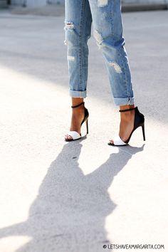 Jeans + Preto & Branco!! <3