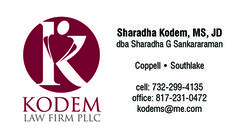 Kodem Law Firm Business Card created by Marni G Designs #MarniGDesigns #BusinessCard #BC #KodemLawFirm