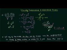 Linearly Dependent and Independent Vectors