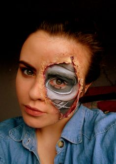 Terminator make-up look CLICK HERE---> http://www.youtube.com/watch?v=uPoW_WyNQ04