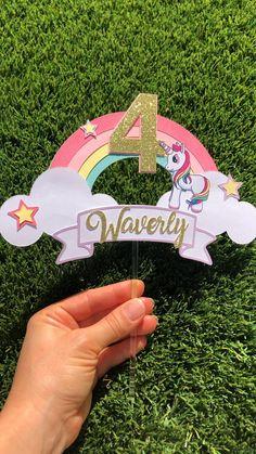#unicornparty #unicornbirthdayparty #unicorncake Unicorn Birthday Decorations, Diy Birthday Banner, Unicorn Themed Birthday Party, Diy Unicorn Cake, Unicorn Cake Topper, Pig Birthday Cakes, Happy Birthday Cake Topper, Diy Cake Topper, Creations