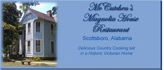 In 1890, J. D. Snodgrass began construction on the house he was building for his second wife Hattie Mae Brown. The house was built close enough in to walk to town and far enough out to have a barn, cows, chickens, a garden and orchard, and a warehouse to store cotton from the farms. It was built in the Victorian style of that era, with lattice work trim and shutters on each window. Open for lunch 7 days a week from 11am-2pm.