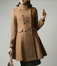 Korean Double Breasted Wool Autumn and Winter Jacket