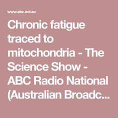 Chronic fatigue traced to mitochondria - The Science Show - ABC Radio National (Australian Broadcasting Corporation)