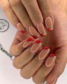 Best Picture For fall wedding nails ideas For Your Taste You are looking for something, and it is going to tell you exactly what you are looking for, and you didn't find that picture. Classy Nail Designs, Fall Nail Art Designs, Red Nail Designs, Acrylic Nail Designs, French Manicure Nails, Red Nails, Classy Nails, Stylish Nails, Cute Acrylic Nails