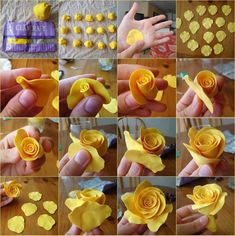 making roses with; icing play dough pottery ect.