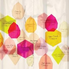 Guest book idea: Colored lucite pieces for guests to sign in and made into windchime post wedding for your home