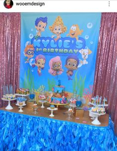 Time for a swim! Set up a Bubble Guppies scene setter with balloons ...