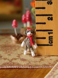 Micro Miniature Crochet #Sockmonkey - Tiniest
