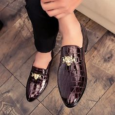 Men's Loafers & Slip-Ons Daily PU Synthetics Blue Spring Fall 2021 - US $48.59 Buy Mens Shoes, Mens Shoes Online, Mens Fashion Shoes, Sneakers Fashion, Mens Driving Loafers, Driving Shoes Men, Black Shoes, Men's Shoes, Dress Shoes