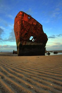 Ship wreck, Drogheda, Ireland - I'm going to need to climb on this ASAP