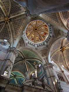 Interior of Certosa di Pavia, Lombardy, Italy #italy #architecture