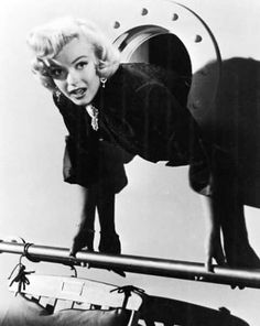"Marilyn Monroe tries to escape. ""For heaven's sake, get me out of here!"""