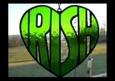 stained glass IRISH heart by bepglass on Etsy, $26.00