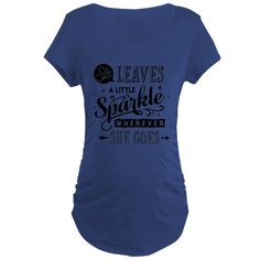 She Leaves A Little Sparkle Maternity T-Shirt