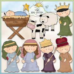 Away In A Manger 1 - Non-Exclusive Cheryl Seslar Clip Art : Digi Web Studio, Clip Art, Printable Crafts & Digital Scrapbooking!
