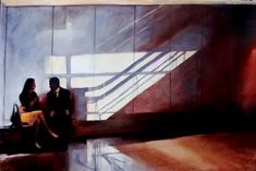 Igor Shulman Artwork / 2009 year Album / Last Meeting - sm Couple Art, Stairs, Gallery, Artwork, Archive, Painting, Album, Home Decor, Stairway