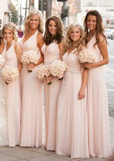 Simple A-line Long Bridesmaid Dress Custom Made Wedding Party Dress YDB00132 402072786615