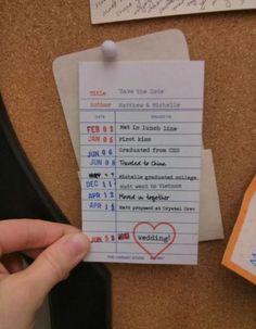 Such a cute , save the date idea