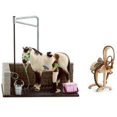 Schleich Toy Horse Wash Area