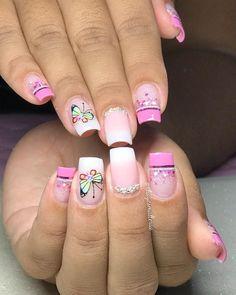 Bling Nails, Toe Nails, Nailart, Manicure, Nail Designs, Beauty, Instagram, Fingernails Painted, Colorful Nail