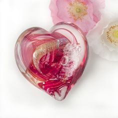 Soulbursts cremation ash glass heart