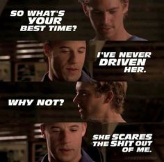 From the first Fast and Furious