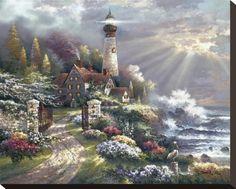 Coastal Splendor Stretched Canvas Print by James Lee at Art.com