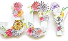 Beautiful Paper Flower Letters