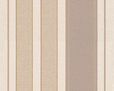 "Beige Streifentapete aus der ""Kingston""; A.S. Création Tapete 307552"