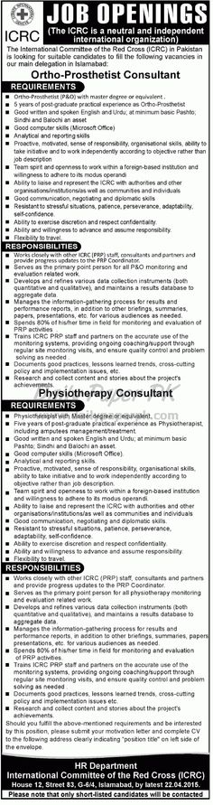 Jobs In The International Committee Red Cross Icrc Peshawar  Jobs