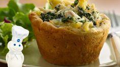Chicken Alfredo Pasta Pies