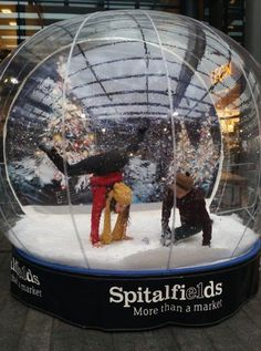 Has anyone been in the giant snow globe in Spitalfields yet?