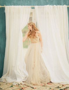<3 Romantic Bridals with a Samuelle Couture Dress by Three Nails Photography - via greenweddingshoes
