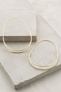 Anthropologie Wedge Hoops on shopstyle.com