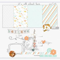 Free printable patterned papers and digital kit, by Adriana Outeiro