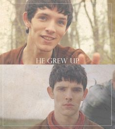 Merlin. The change is incredible. You can see his journey written on his face...what an amazing actor